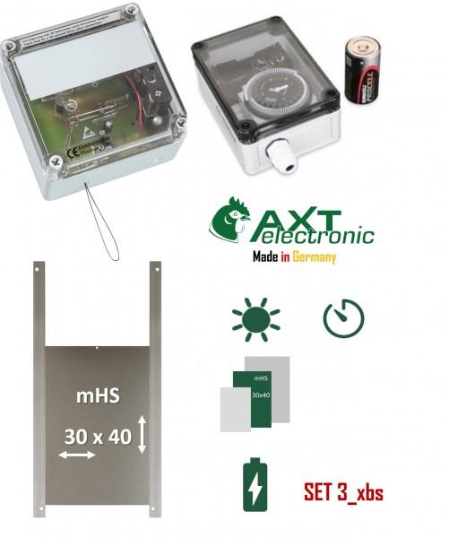 Spar Set 3_xbs Automatische Hühnerklappe Hühnertür Elektronischer Pförtner Lichtsensor Zeitschaltuhr Hühner
