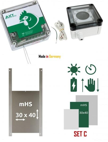 Elektronischer Pförtner VSD mit Batterien, externer Zeitschaltuhr und Hühnerklappe, automatische Hühnerklappep