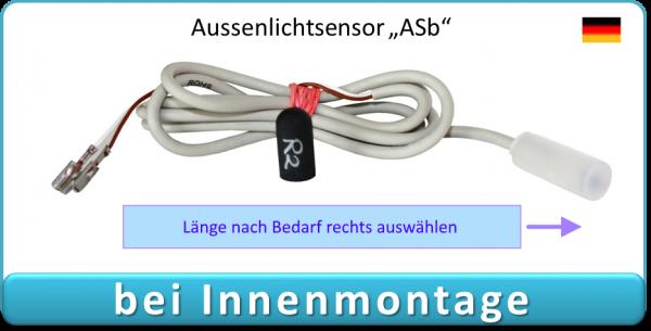 Außenlichtsensor ASb, externer Sensor für Elektronischen Pförtner / automatische Hühnerklappe VSBb - Elektronischer Pförtner / Hühnerklappe mit Batterien, Klappensteller automatische Hühnerklappe / Klappensteller Hühnerklappe, Klappensteller, Elektronisch
