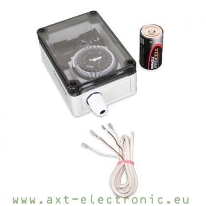 BS2 – analoge Zeitschaltuhr mit Batterie für elektronische Pförtner VSB oder VSD