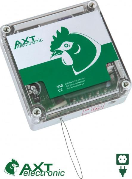 Elektronischer Pförtner VSD+ST mit Stecker-Netzteil, automatische Hühnerklappe