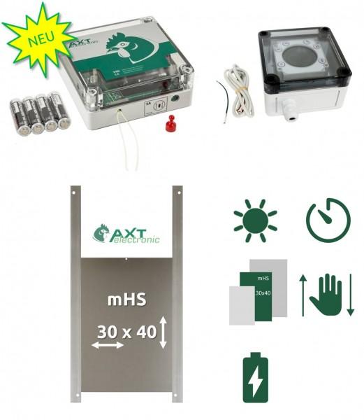 SET C - NEUER Pförtner VSD mit Batterien, Außenmontage, Zeitschaltuhr, manuelle Steuerung, Ententür