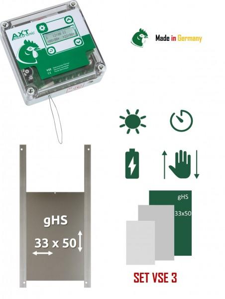 Elektronischer Pförtner VSE mit Batterien, integrierter Zeitschaltuhr und Gänseklappe, automatische Hühnerklappep