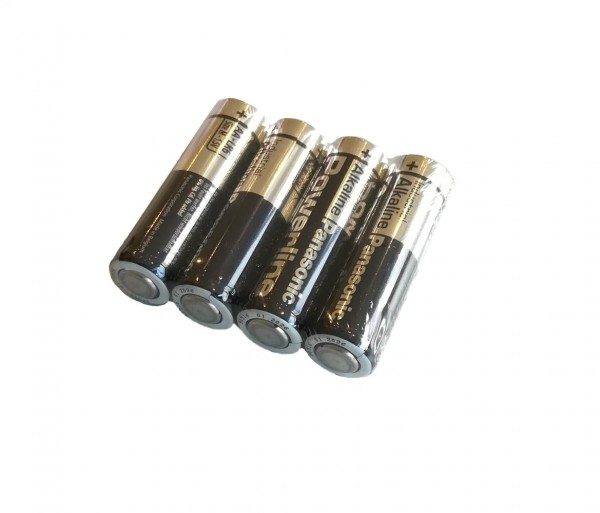 Batteries 4x AA (alkaline batteries) for electronic doorkeepers VSBb, VSC, VSD and VSE
